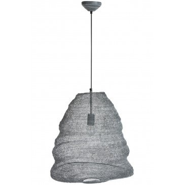 Suspension Gaze Métal Gris Foncé Large | www.cosy-home-design.fr
