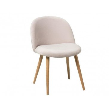 Chaise Sarah Velours Rose | www.cosy-home-design.fr
