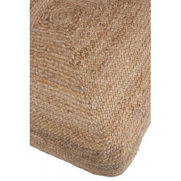 Pouf Carré Jute Naturel | www.cosy-home-design.fr