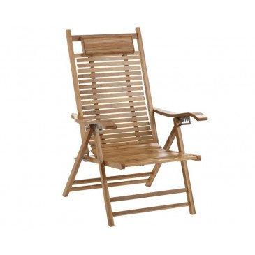 Chaise Longue Pliable Bambou Naturel   www.cosy-home-design.fr