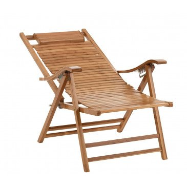 Chaise Longue Pliable Bambou Naturel | www.cosy-home-design.fr