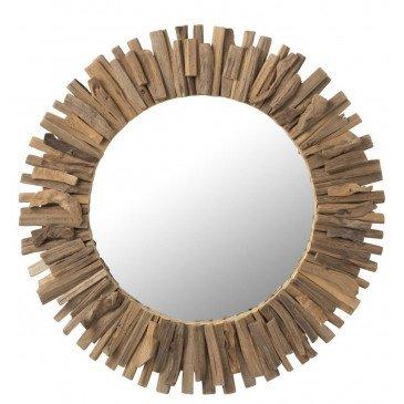 Miroir Rond Bois/Verre Large | www.cosy-home-design.fr