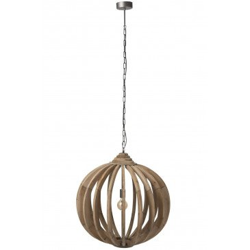 Suspension Boule Barres Bois Naturel | www.cosy-home-design.fr