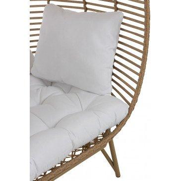 Chaise Lounge Ovale Acier Naturel | www.cosy-home-design.fr