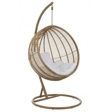 Chaise Suspendue Rond Acier Naturel | www.cosy-home-design.fr