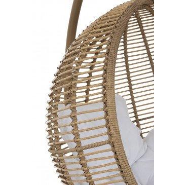 Chaise Suspendue Rond Acier Naturel | www.cosy-home-design.fr