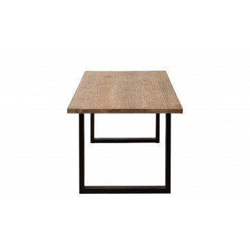 Table A Manger Jona Bois De Manguier Naturel/Noir | www.cosy-home-design.fr