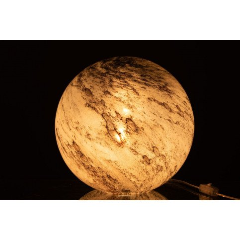 Lampe Dany Rond Verre Gris Large   www.cosy-home-design.fr