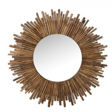 Miroir Rond Bambou Naturel | www.cosy-home-design.fr
