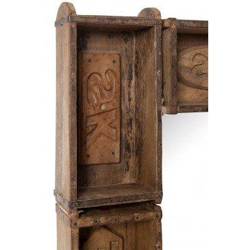 Miroir Bacs Rectangulaire Bois Recyclé Marron | www.cosy-home-design.fr