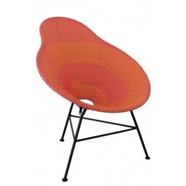 Chaise Poire Métal/Plastique Rouge | www.cosy-home-design.fr