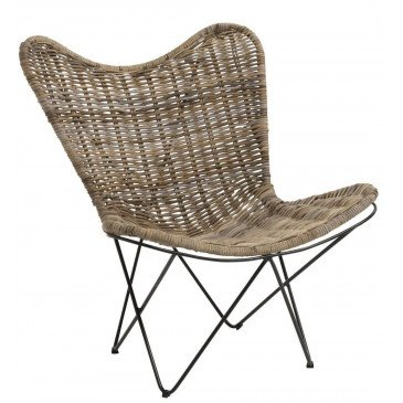 Chaise Lounge Rotin Naturel | www.cosy-home-design.fr