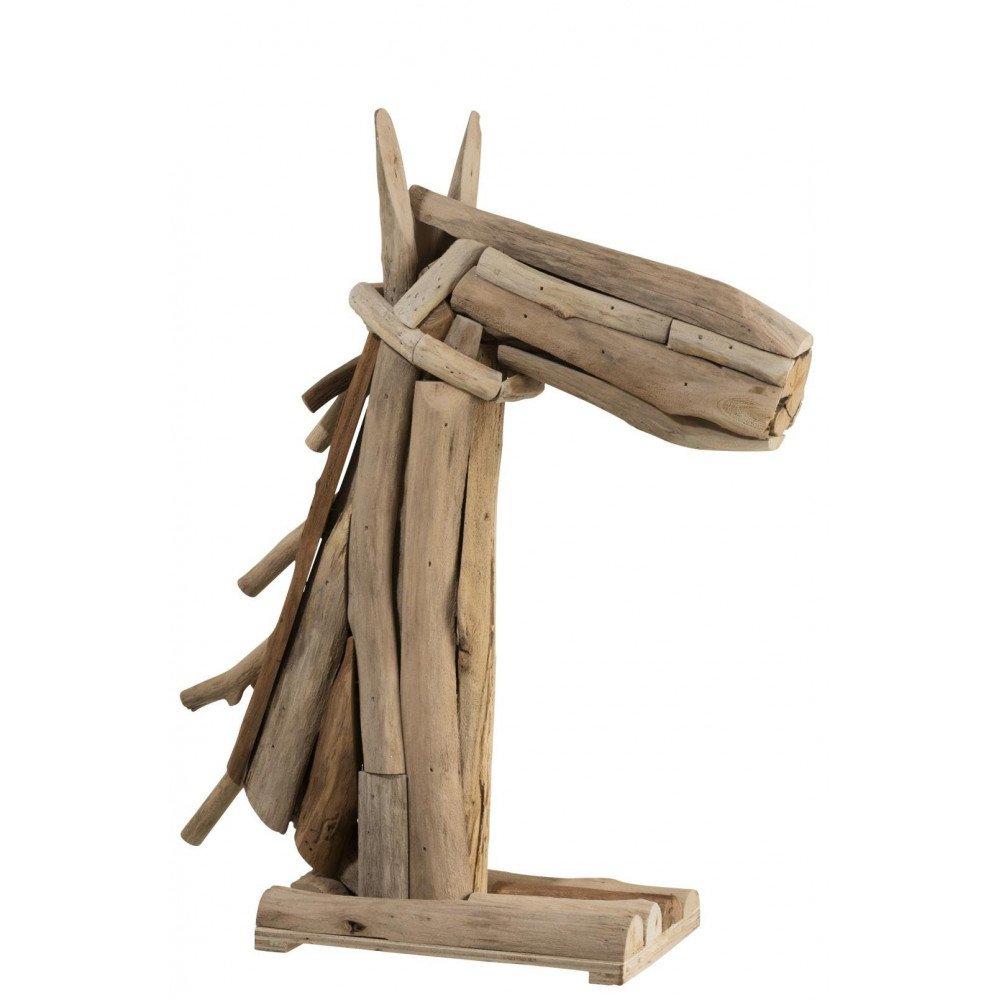 Tête de Cheval en Morceaux de Bois | www.cosy-home-design.fr