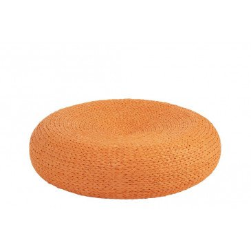 Pouf Rond Orange | www.cosy-home-design.fr
