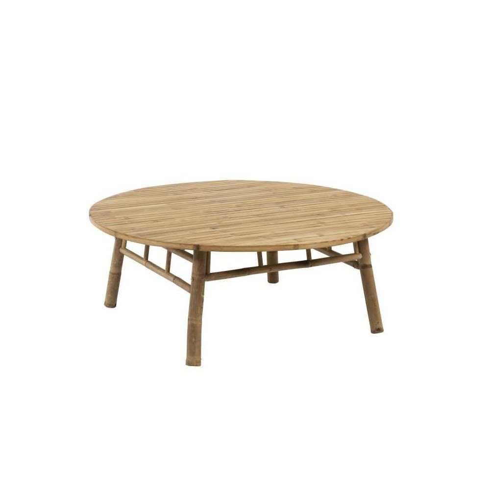 Table Basse Ronde Bambou Naturel | www.cosy-home-design.fr