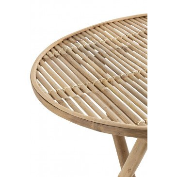 Table Ronde Pliable Bambou Naturel | www.cosy-home-design.fr