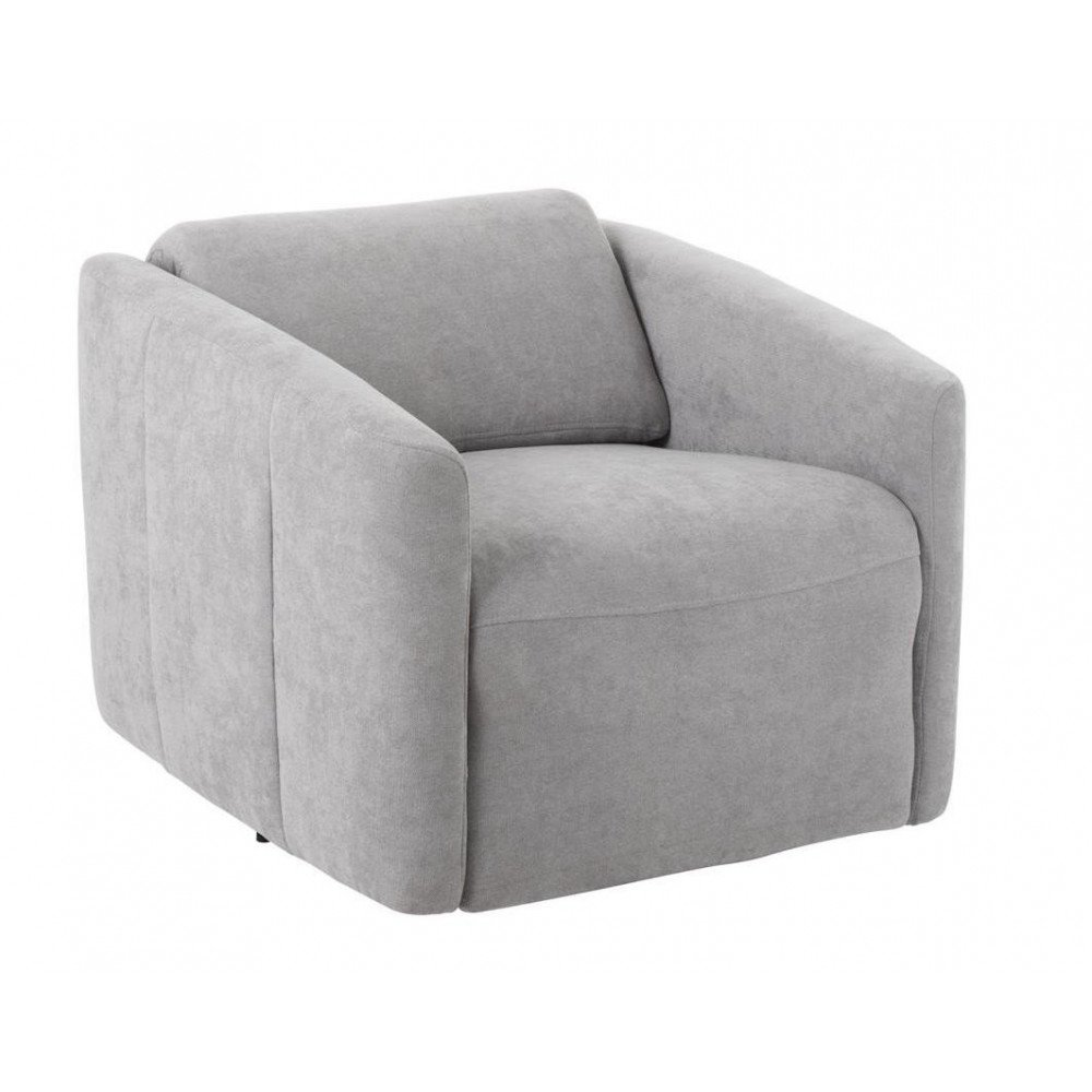 Fauteuil/Relax 1 Personne Lin Gris | www.cosy-home-design.fr