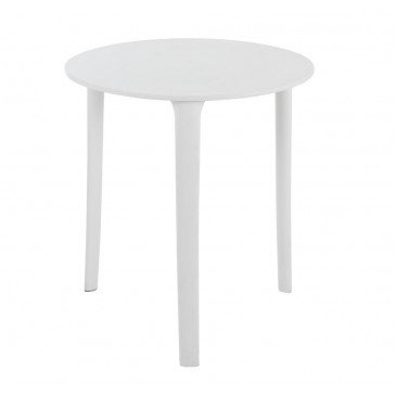 Table Tripode Ronde Polypropylène Blanche | www.cosy-home-design.fr
