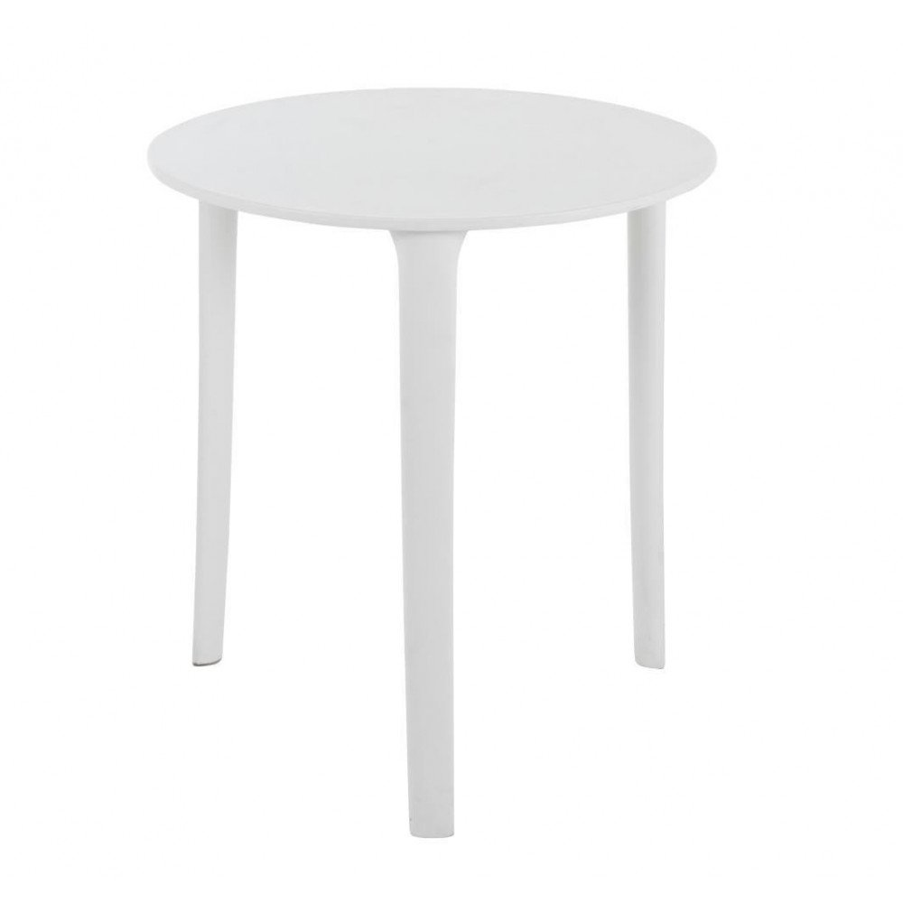 Table Tripode Ronde Polypropylène Blanche   www.cosy-home-design.fr