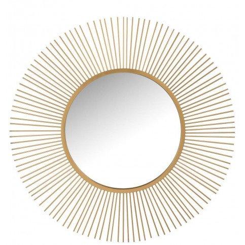 Miroir Barres Rond Métal/Verre Mat Or | www.cosy-home-design.fr