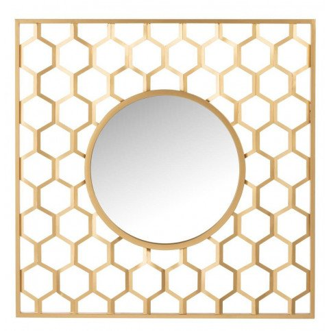 Miroir Alveoles Métal/Verre Mat Or | www.cosy-home-design.fr
