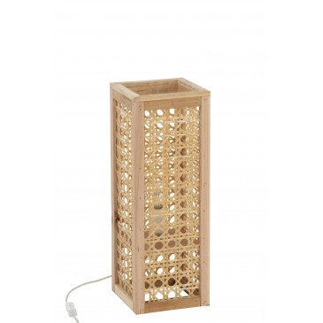 Lampe Rectangulaire Bambou Naturel Petit | www.cosy-home-design.fr