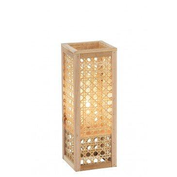 Lampe Rectangulaire Bambou Naturel Petit | www.cosy-home-design.fr