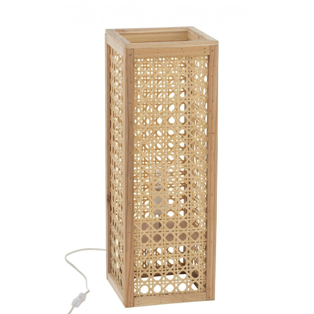 Lampe Rectangulaire Bambou Naturel Large | www.cosy-home-design.fr