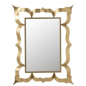 Miroir Baroque Rectangulaire Métal/Verre Or | www.cosy-home-design.fr