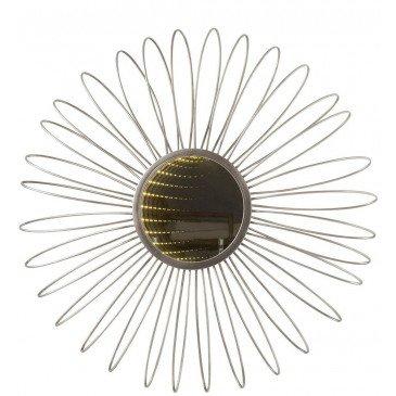 Miroir et Led Rond Métal/Verre Argent | www.cosy-home-design.fr