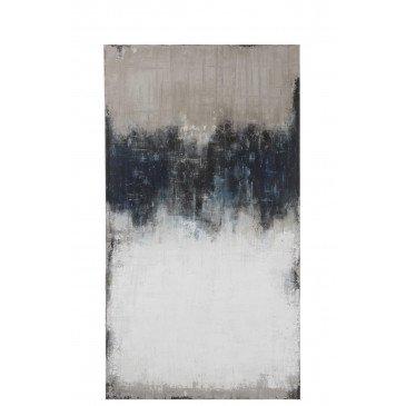 Tableau Abstrait Canevas Blanc/Bleu/Gris | www.cosy-home-design.fr