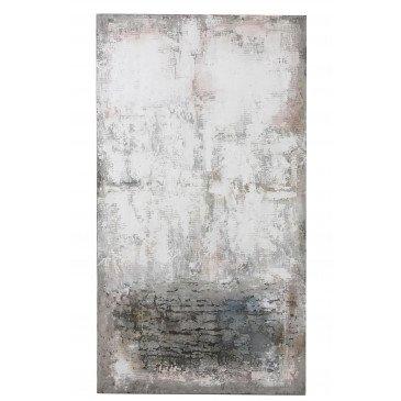 Tableau Abstrait Blanc/Gris/Rose   www.cosy-home-design.fr