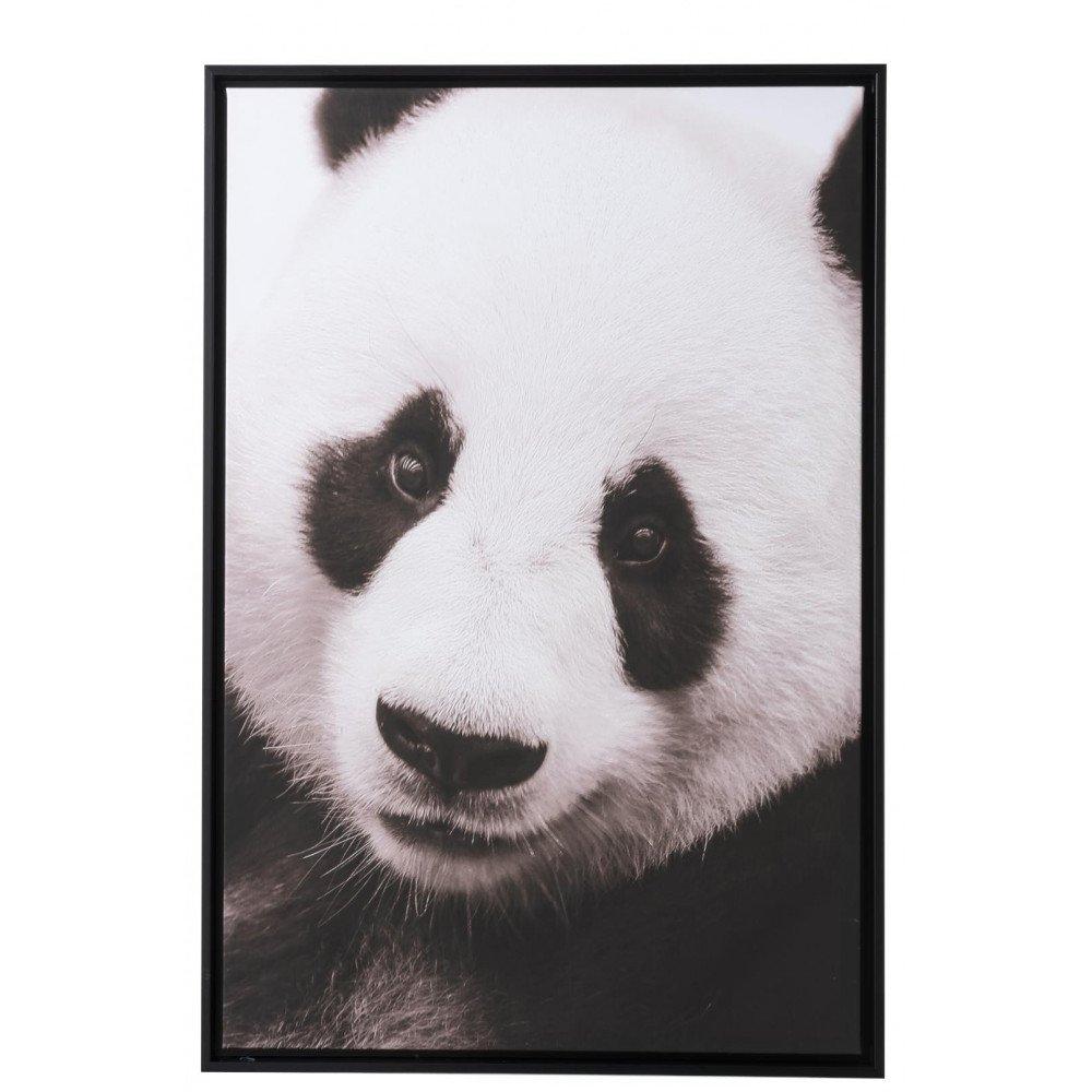 Cadre Panda Bois/Papier Noir/Blanc | www.cosy-home-design.fr