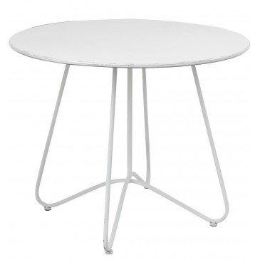 Table Ronde Métal Blanc | www.cosy-home-design.fr