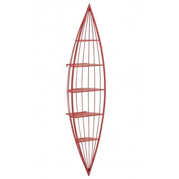 Etagère Canoe 5 Planches Métal Rouge | www.cosy-home-design.fr