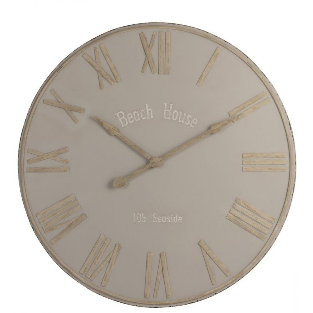Horloge Beach House Métal Beige Large | www.cosy-home-design.fr