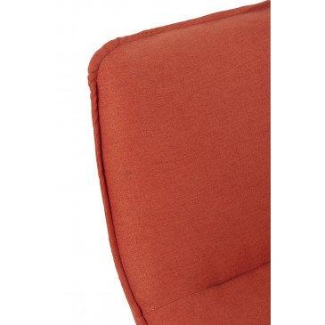 Fauteuil 1 Personne Pivotable Velours Orange Métal Argent | www.cosy-home-design.fr
