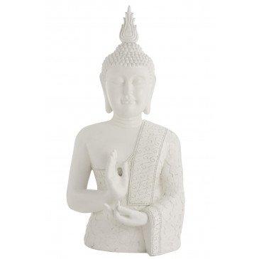 Bouddha Zen Résine Blanc | www.cosy-home-design.fr