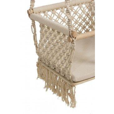 Chaise Enfant Suspendue Macrame Coton Crème | www.cosy-home-design.fr