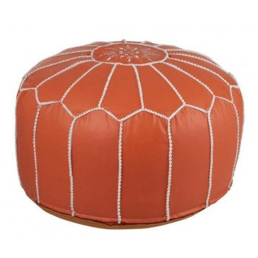 Pouf Africain Polyester Orange | www.cosy-home-design.fr