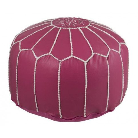 Pouf Africain Polyester Rose | www.cosy-home-design.fr