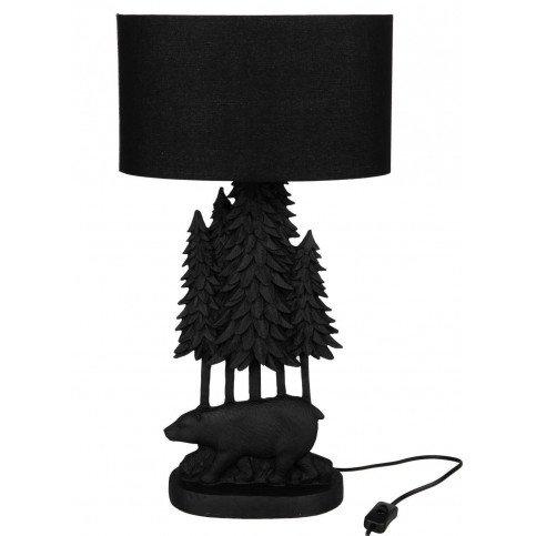 Lampe Ours Arbre Résine Noir | www.cosy-home-design.fr