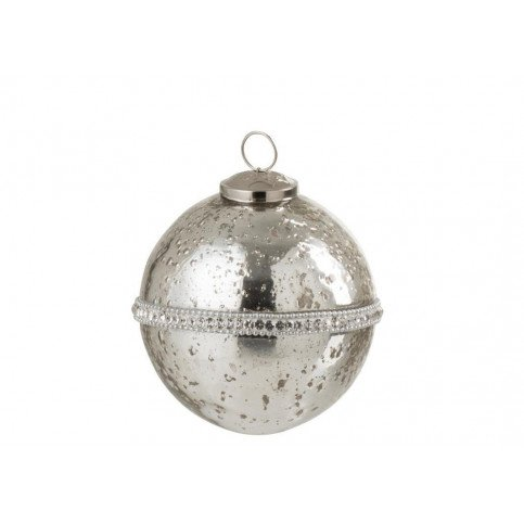 Boule De Noël Diamant Verre Argent Petit | www.cosy-home-design.fr