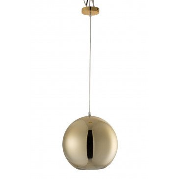 Lampe Boule Suspende Verre Or Large | www.cosy-home-design.fr