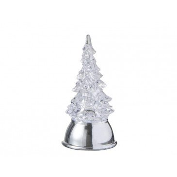 Sapin De Noël Sur Pied Led Acrylique Transparent | www.cosy-home-design.fr