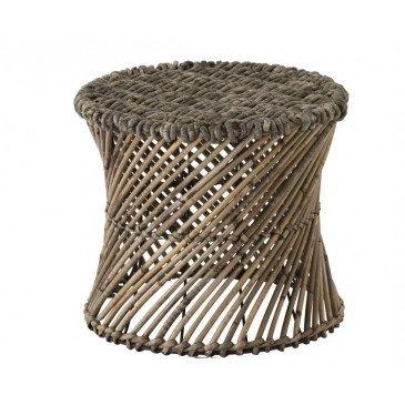 Tabouret/Vase Rotin Marron Petit | www.cosy-home-design.fr