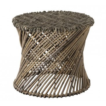 Tabouret/Vase Rotin Marron Large | www.cosy-home-design.fr
