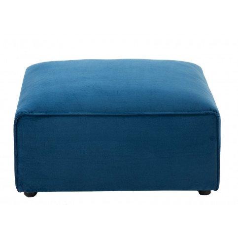 Pouf/Coin Carré Textile/Bois Bleu | www.cosy-home-design.fr