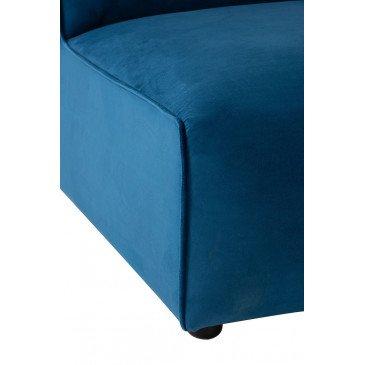 Fauteuil Droit Textile/Bois Bleu | www.cosy-home-design.fr