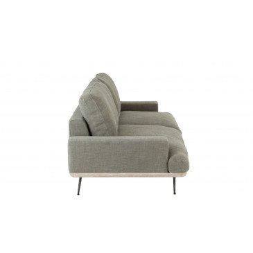 Canapé 2 Personnes Chene/Textile Vert Olive | www.cosy-home-design.fr